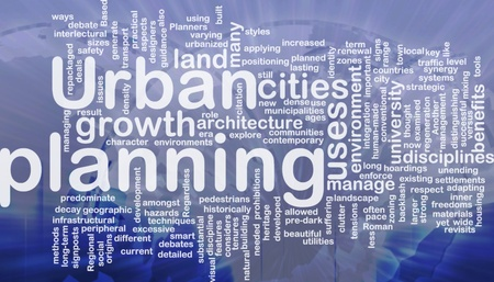 manage clutter: Urban planning background concept international