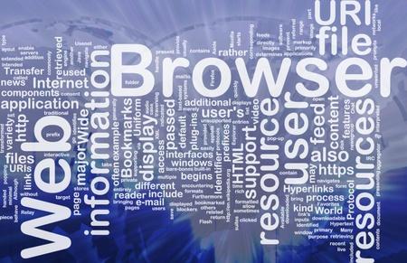 Background concept illustration of internet web browser international Stock Illustration - 9915105