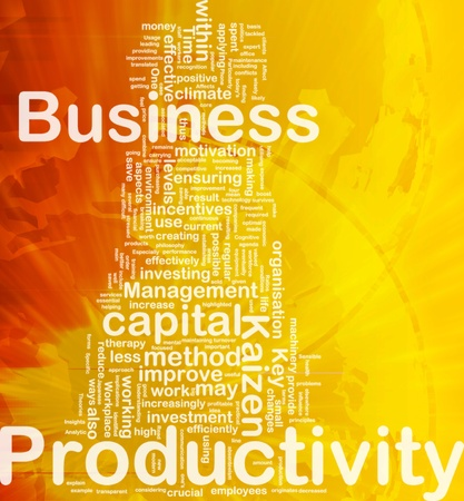 Background concept wordcloud illustration of business productivity international illustration