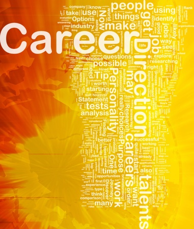 career choices: Background concept wordcloud illustration of career international