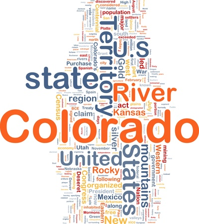 colorado mountains: Background concept wordcloud illustration of Colorado American state