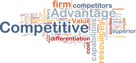 competitive: Background concept wordcloud illustration of business competitive advantage
