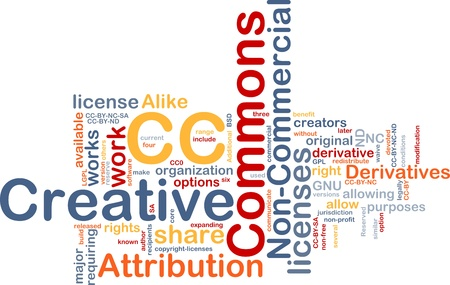 commons: Background concept wordcloud illustration of creative commons license