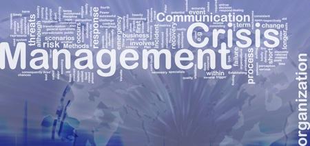 Achtergrond concept wordcloud illustratie van crisisbeheersing internationale