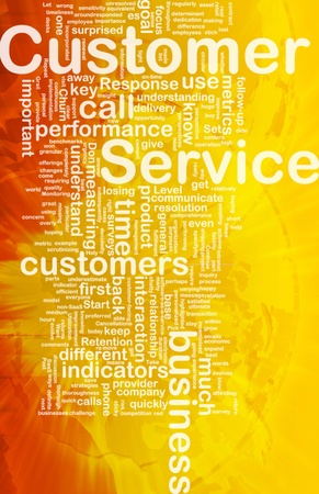 customer facing: Background concept wordcloud illustration of customer service international