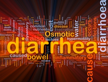 Background concept wordcloud illustration of diarrhea diarrhoea glowing light Stock Illustration - 10011978