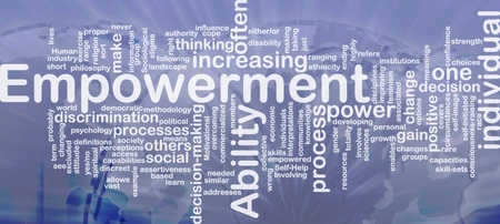 Background concept wordcloud illustration of enpowerment international illustration