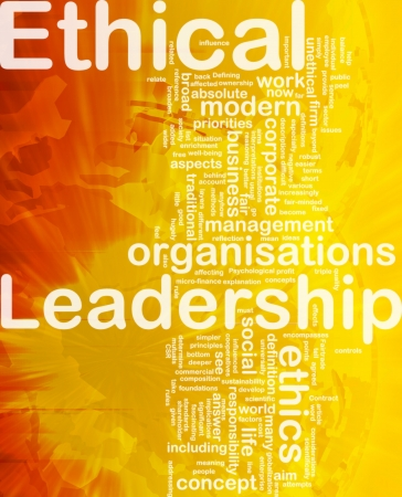 unethical: Background concept wordcloud illustration of ethical leadership international
