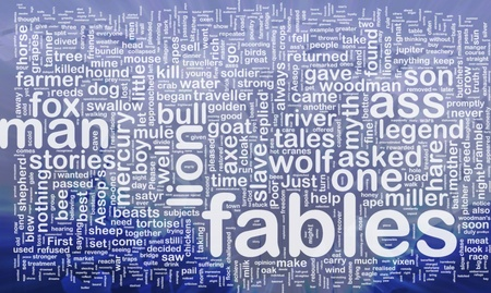 Background concept wordcloud illustration of fables international