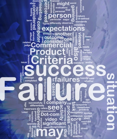 benchmark: Background concept wordcloud illustration of failure international Stock Photo