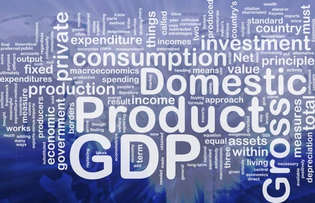 principle: Background concept wordcloud illustration of GDP international
