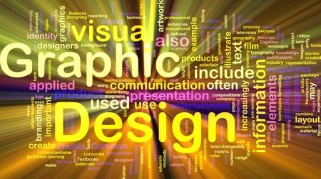 Achtergrond concept illustratie van de visuele grafische vormgeving gloeiende licht