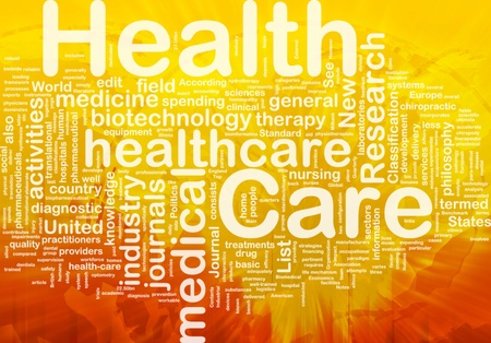 medical field: Background concept wordcloud illustration of health care international
