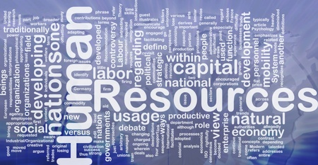human capital: Background concept wordcloud illustration of human resources international Stock Photo
