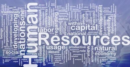 capital humano: Ilustraci�n de wordcloud concepto de fondo de los recursos humanos internacionales