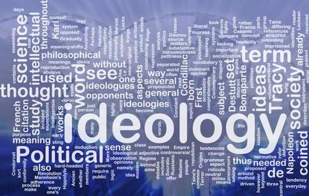 Background concept wordcloud illustration of ideology international illustration