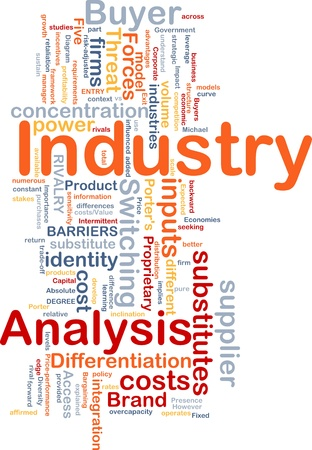 Background concept wordcloud illustration of business industry analysis illustration