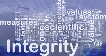 Background concept wordcloud illustration of integrity international illustration