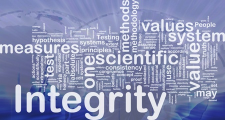 according: Background concept wordcloud illustration of integrity international