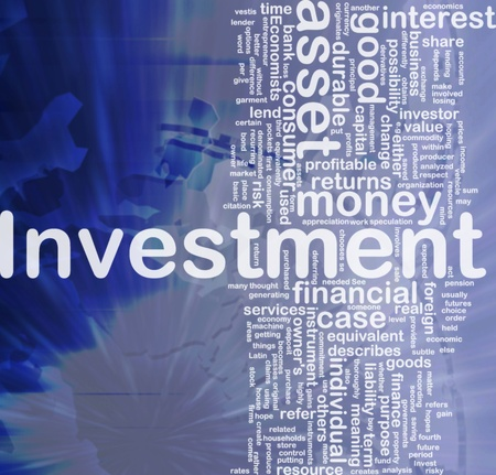 principle: Background concept wordcloud illustration of investment international