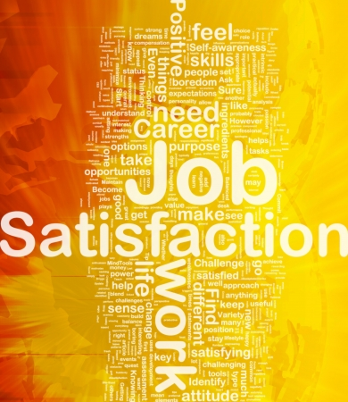 sure: Background concept wordcloud illustration of job satisfaction international