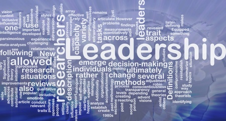 Background concept wordcloud illustration of leadership international illustration