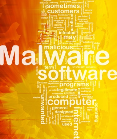 malicious: Background concept wordcloud illustration of malware international