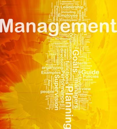 Background concept wordcloud illustration of management international illustration