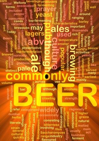 fermenting: Background concept illustration of beer alcohol beverage glowing light