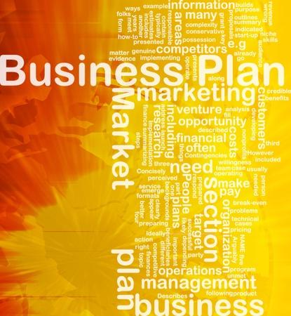 Background concept wordcloud illustration of business plan international illustration