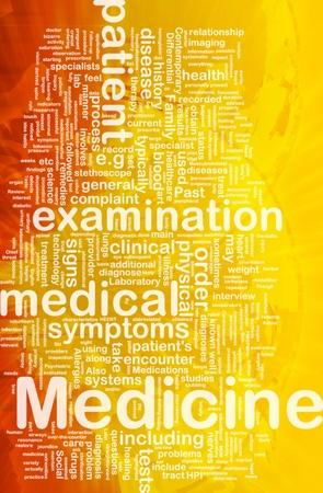 patient's history: Background concept wordcloud illustration of medicine international