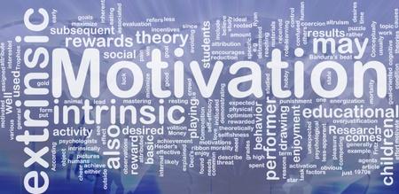 Achtergrond concept wordcloud illustratie van motivatie internationale
