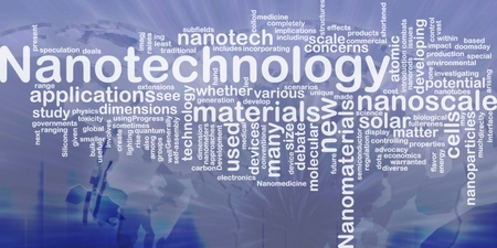 nanotech: Background concept wordcloud illustration of nanotechnology international