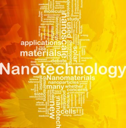 display size: Background concept wordcloud illustration of nanotechnology international