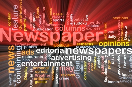 circulation: Background concept illustration of newspaper news paper glowing light