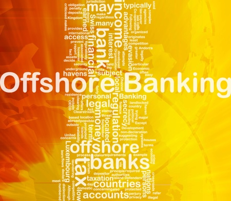 secrecy: Background concept wordcloud illustration of offshore banking international