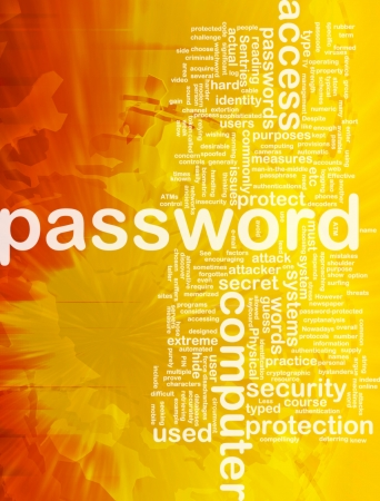 secret password: Background concept wordcloud illustration of password international