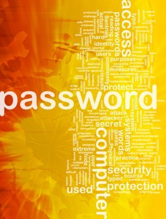 passwords: Background concept wordcloud illustration of password international