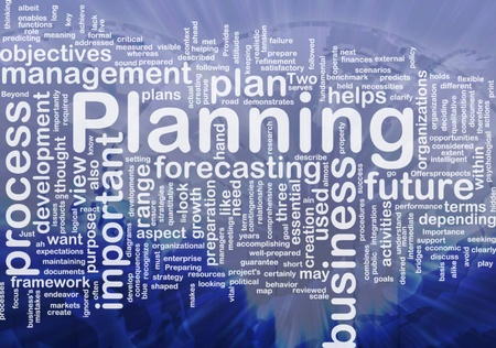 Background concept wordcloud illustration of planning international Stock Illustration - 10012094