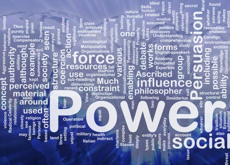 ascribed: Background concept wordcloud illustration of power international