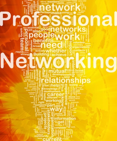 Background concept wordcloud illustration of professional networking international Stock Photo