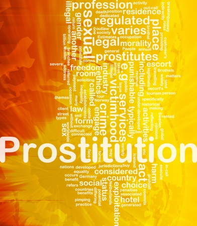prostitution: Background concept wordcloud illustration of prostitution international