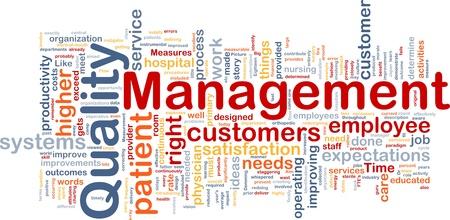 gestion empresarial: Antecedentes Ilustración del concepto de la gestión empresarial de calidad
