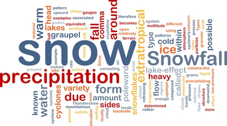 precipitaci�n: Wordcloud concepto de fondo la ilustraci�n de nieve precipitaci�n de nieve Foto de archivo