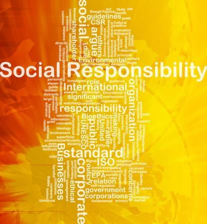 Achtergrond concept wordcloud illustratie van maatschappelijke verantwoordelijkheid internationale