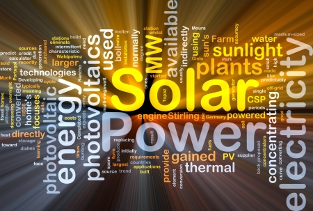 Background concept illustration of solar power energy glowing light Stock Illustration - 10012085