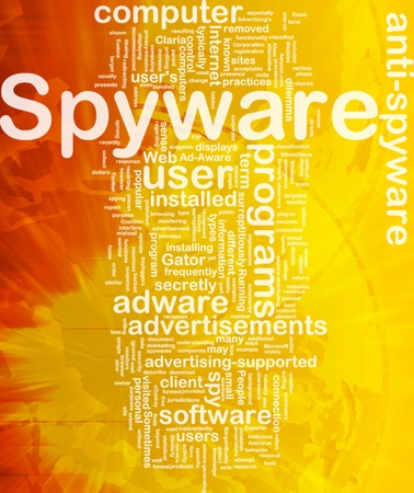 spyware: Background concept wordcloud illustration of spyware international