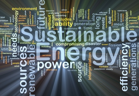 energy sources: Background concept illustration of sustainable energy power glowing light Stock Photo