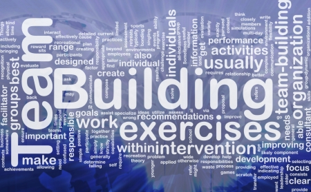 recommendations: Background concept wordcloud illustration of team building international