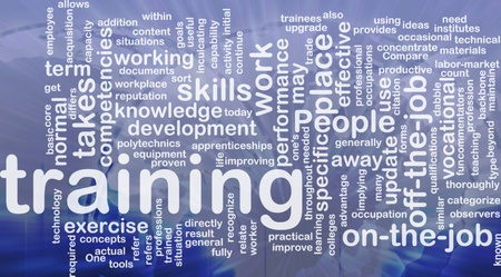 update: Background concept wordcloud illustration of training international